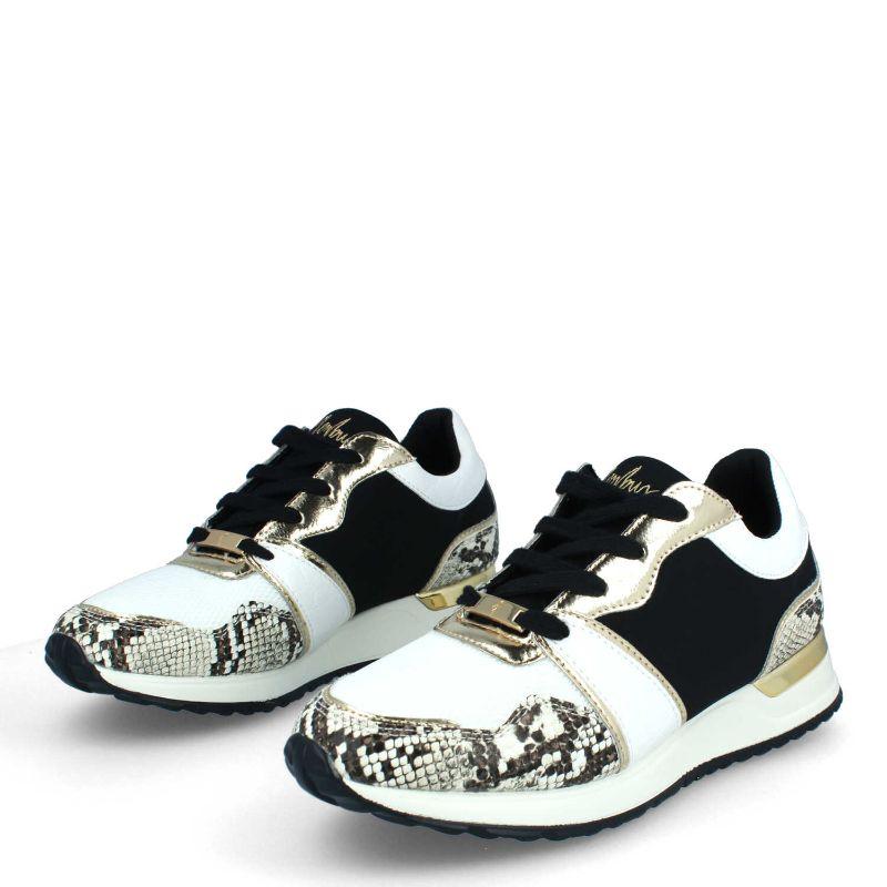 Zapatillas sneaker blancas con negro