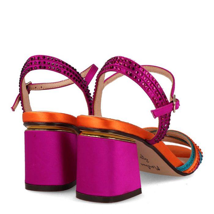 sandalia multicolor membur de mujer