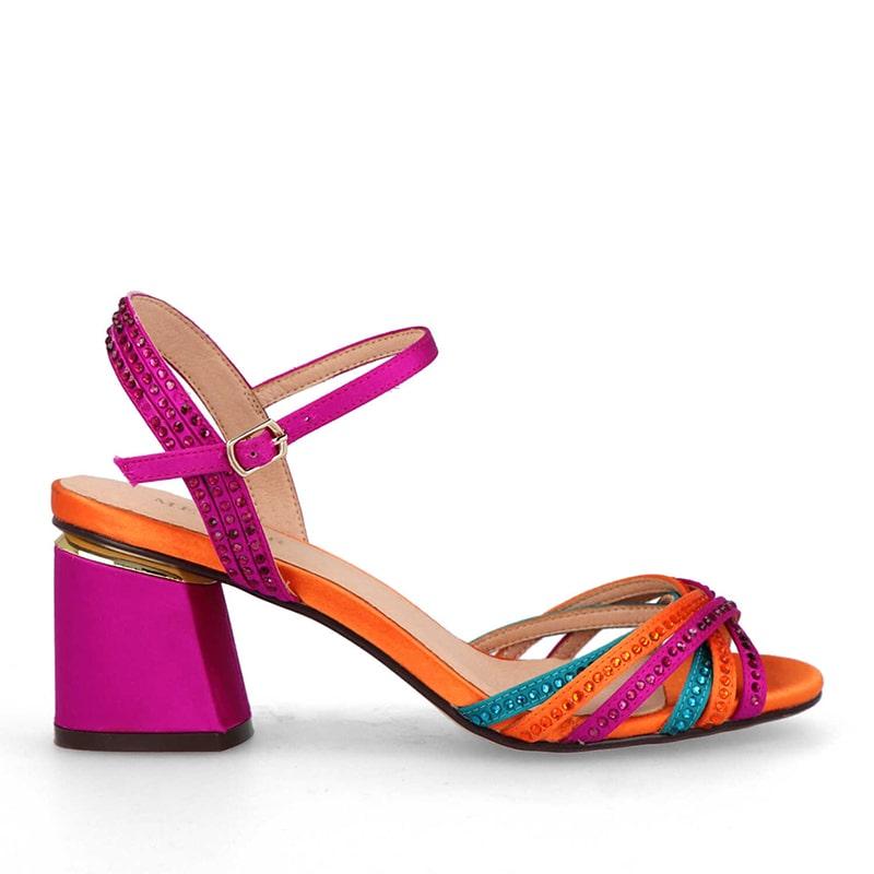 Sandalia tricolor de mujer membur