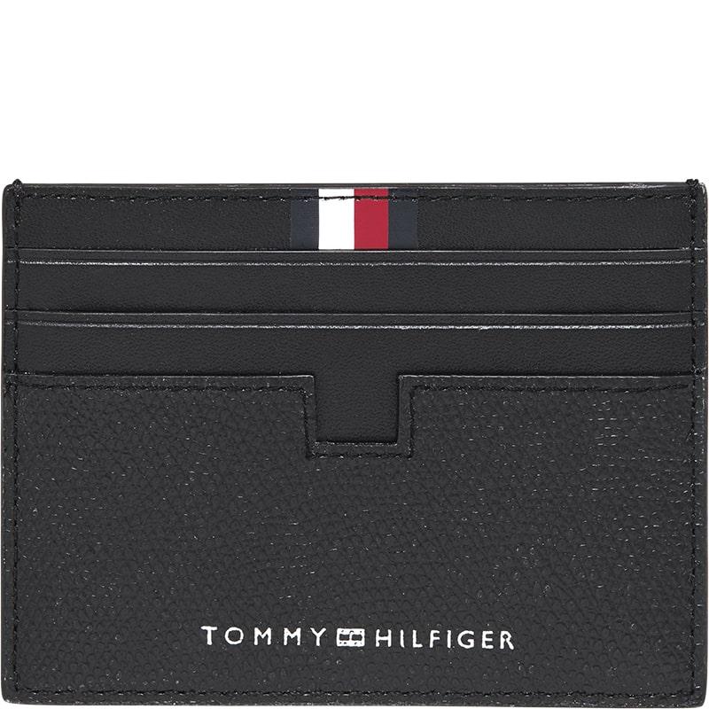 Tarjetero de piel negro para hombres Tommy Hilfiger