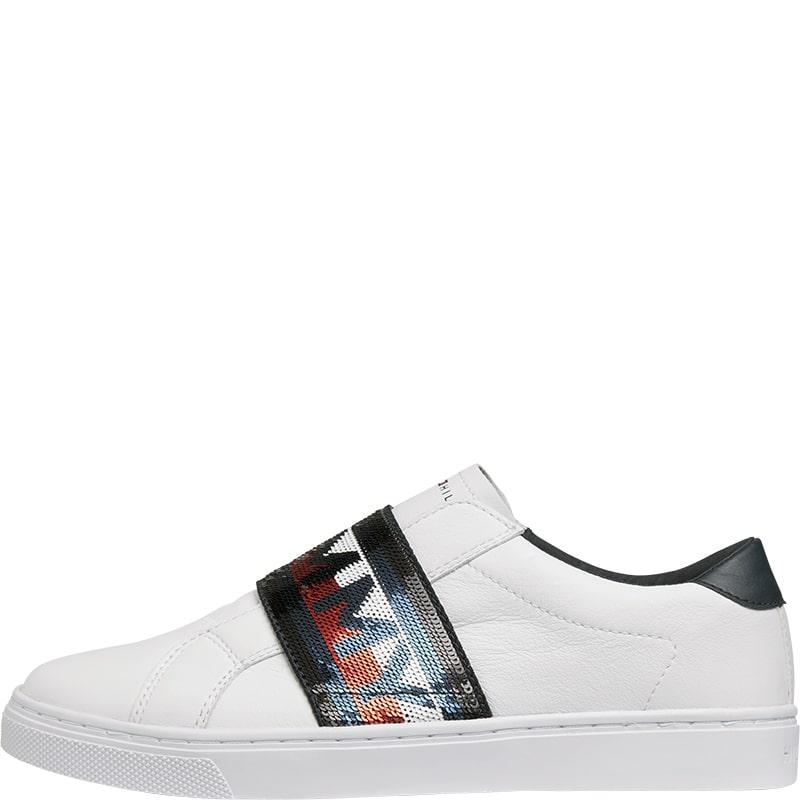 Zapatillas sin cordones ommy Hilfiger blancas