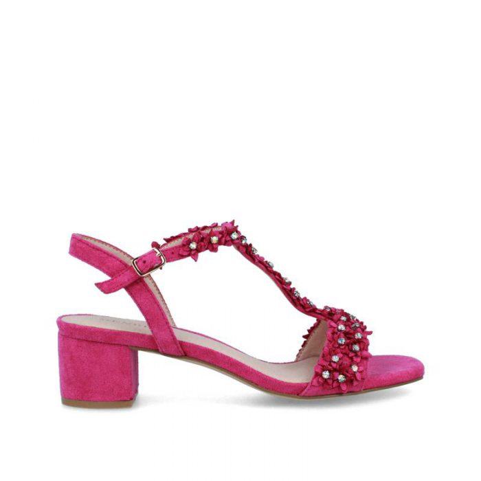 sandalia de tacón rosadas