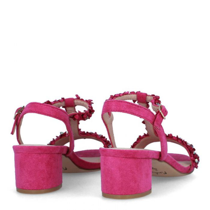 sandalias de tacón rosadas membur