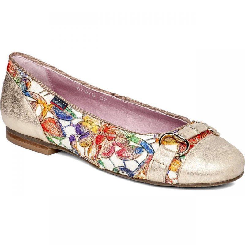Zapato plano floreado callaghan