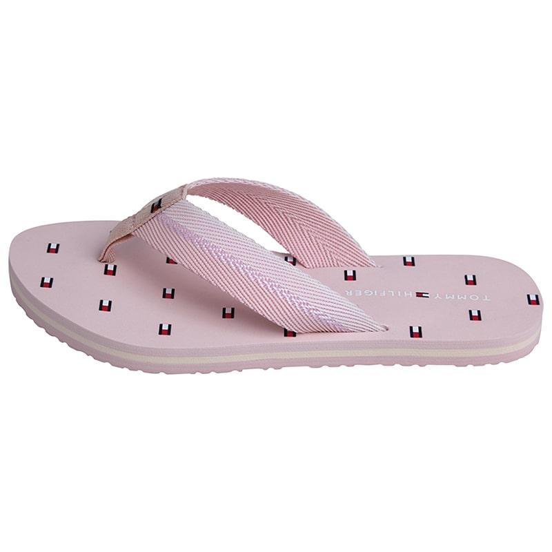 chanclas rosadas tommy hilfiger de mujer