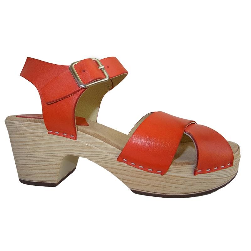 Sandalias de tacón naranja Hobby